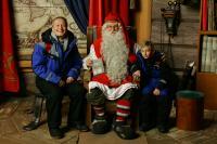 in casa di Santa Claus a Rovaniemi