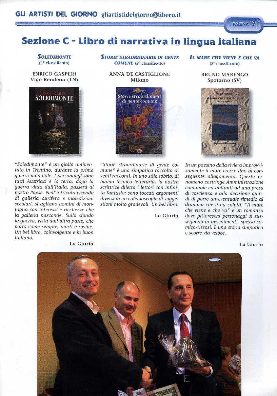 Enrico Gasperi_ artisti del giorno dicembre 2007