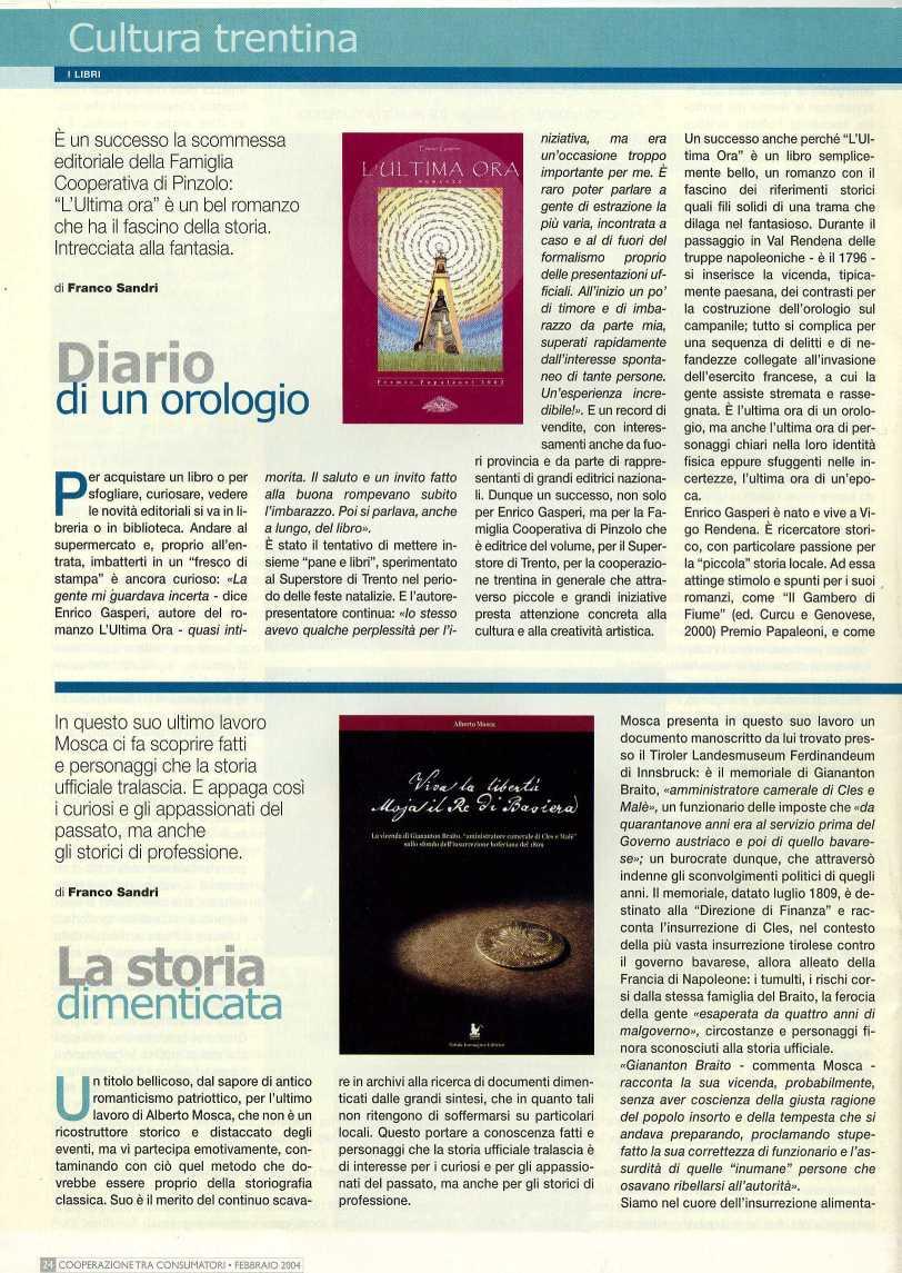 Enrico Gasperi_ cooperazione consumatori febbraio 2004