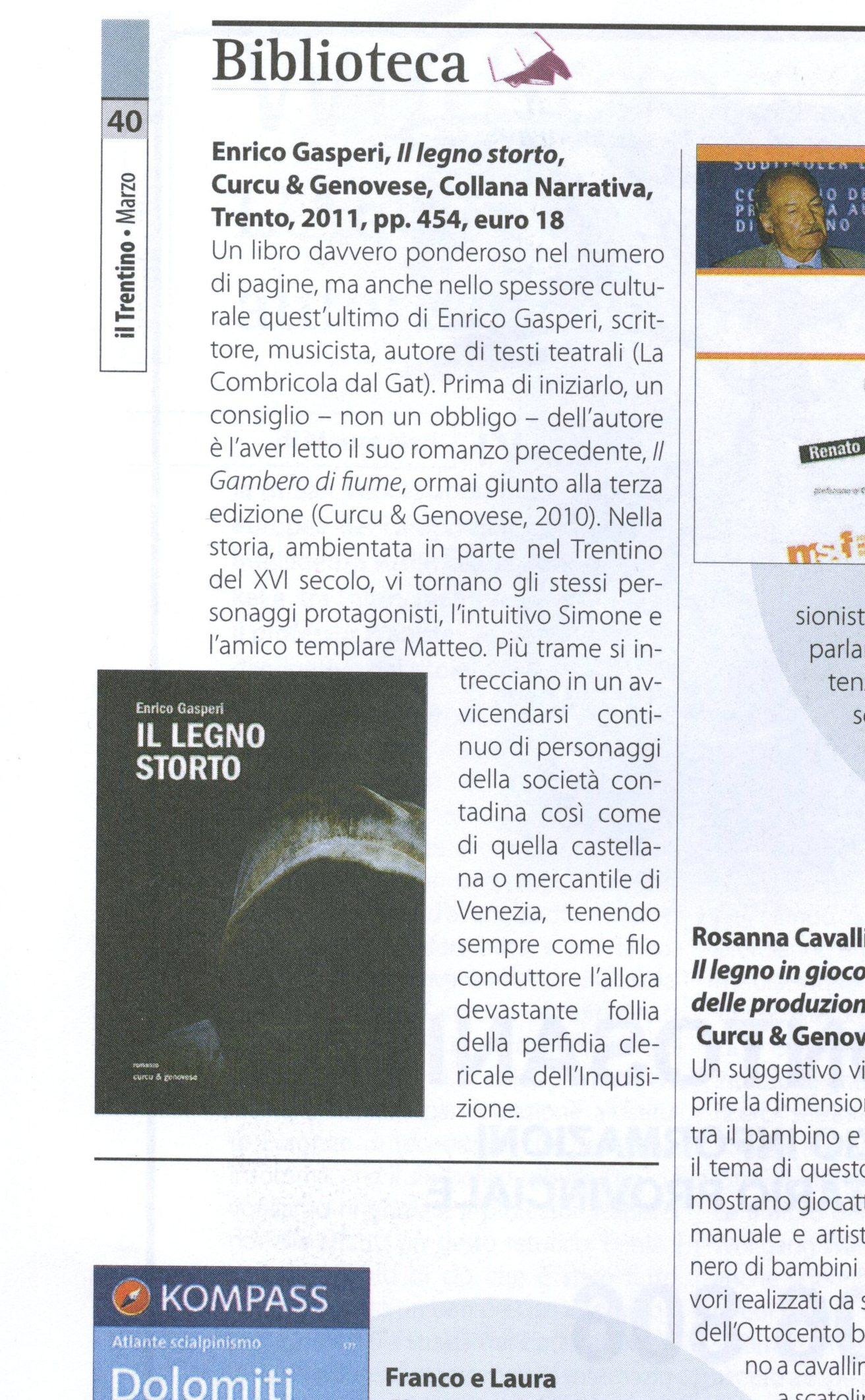 Enrico Gasperi_ Copia di il trentino - mensile- 2012 marzo