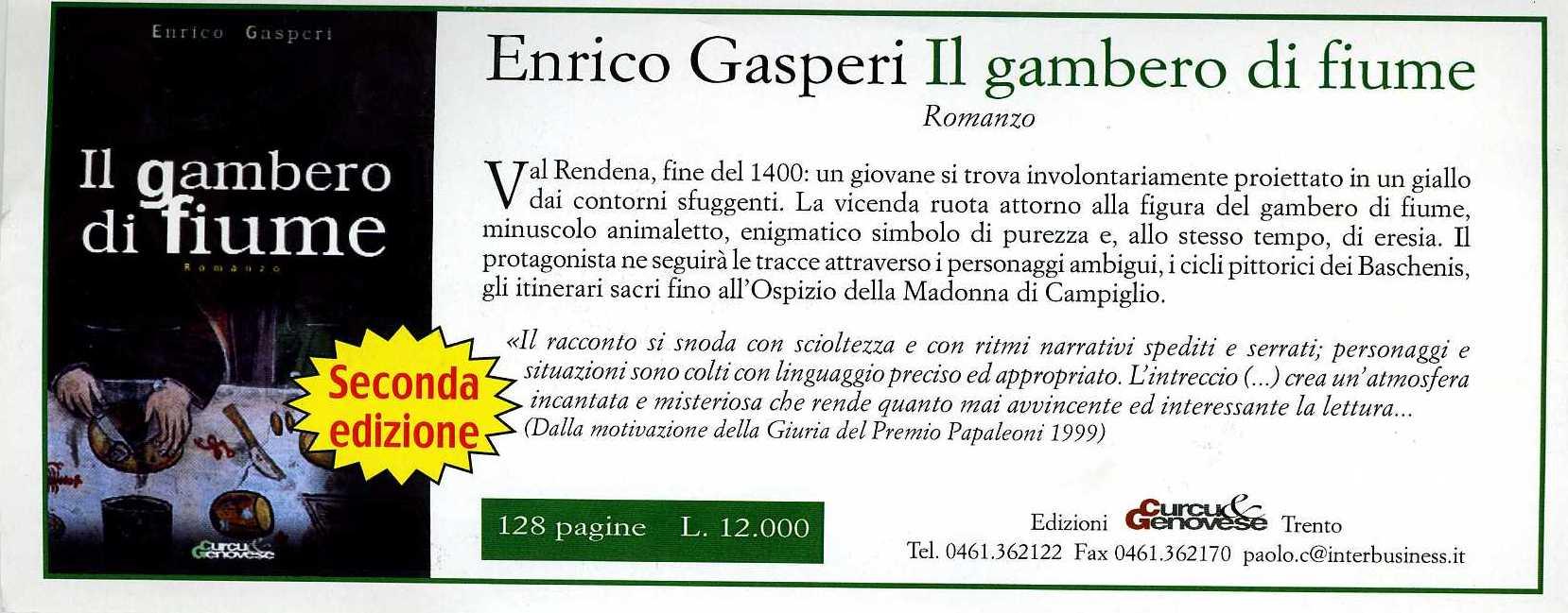 Enrico Gasperi_ La pubblicità della seconda edizione